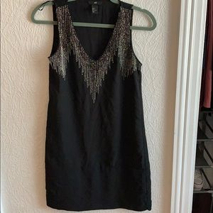 H&M tank top shift dress with sequins